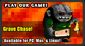 Play our new retro Halloween horror game, Grave Chase! Now available on Steam for PC, Mac, & Linux!